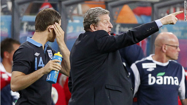 An animated Roy Hodgson marshalls his men during their 1-0 win over Norway in Oslo.