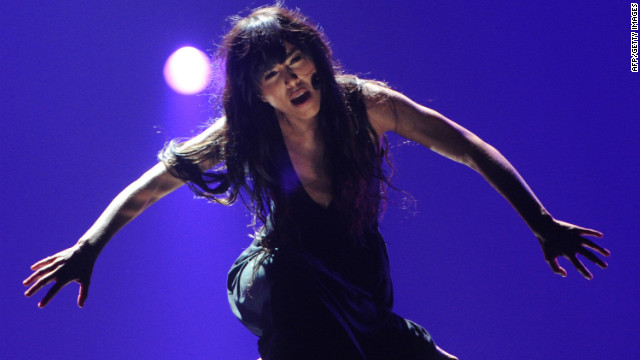 Sweden's Loreen performs during the dress rehearsal for the Eurovision song contest.