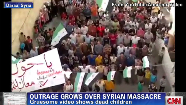 Syrians protest massacre
