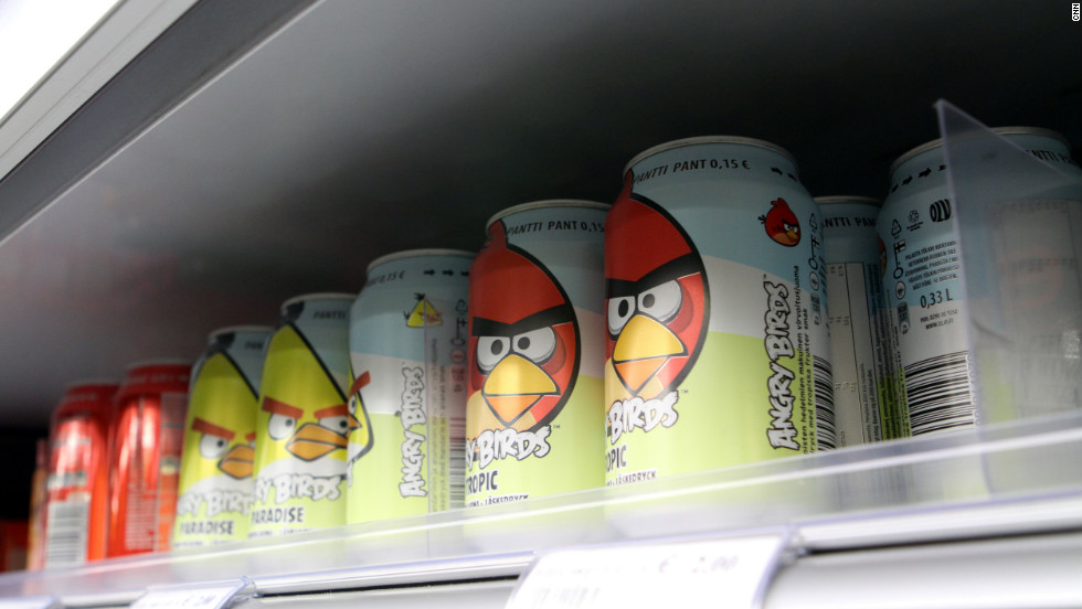 This Angry Birds soda is for sale at a convenience store in Helsinki.