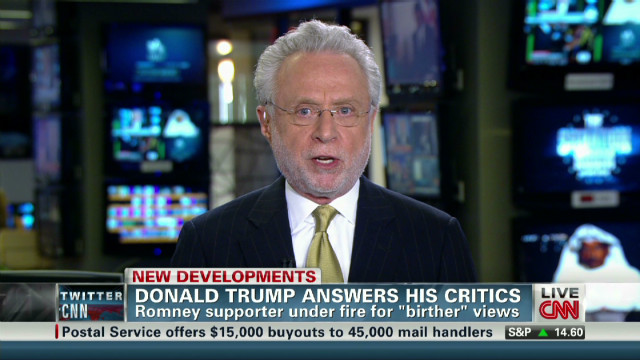 Blitzer calls Trump 'ridiculous'