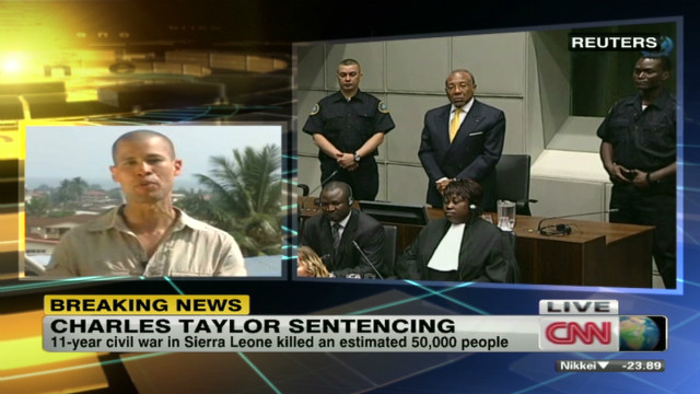 Charles Taylor sentenced to 50 years