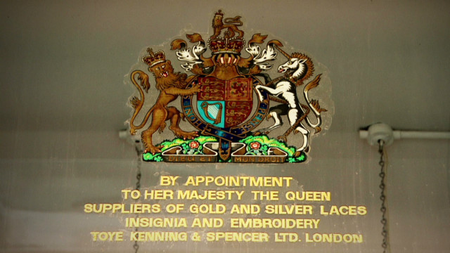 Financial benefits of 'royal warrant '