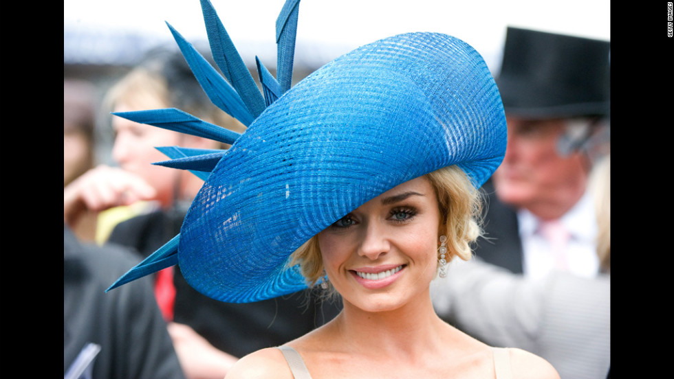 Welsh singer Katherine Jenkins helps kick off the Diamond Jubilee celebrations Saturday at the Epsom Derby in Surrey, England.