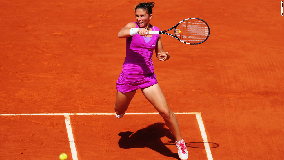 Having beaten the shortest player on the WTA Tour, the Australian will next play one who stands only two inches taller than Cibulkova -- Italian 21st seed Sara Errani.