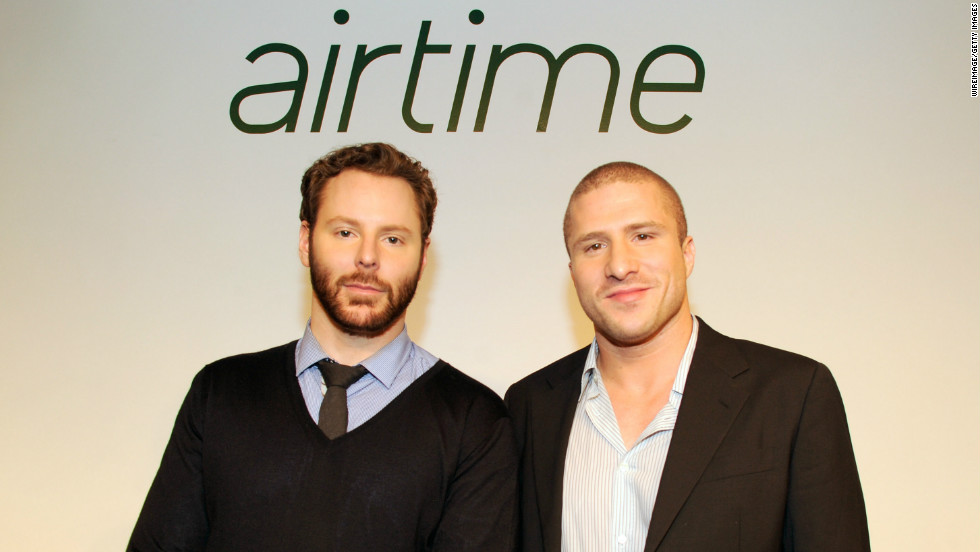 Airtime, a video-chat service created by tech hotshots Sean Parker, left, and Shawn Fanning, launched with a glitzy party in June. Four months later, it had just 10,000 active users.