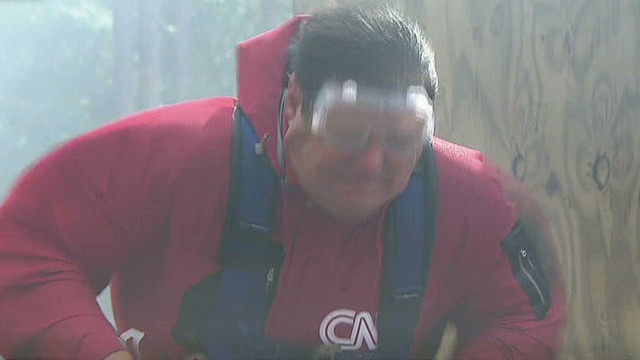 CNN reporter goes inside a hurricane