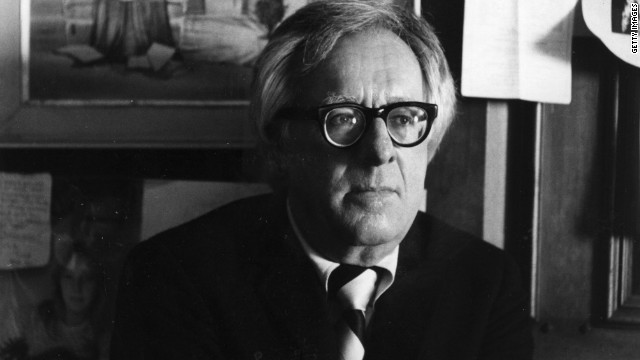 Ray Bradbury, the science fiction writer credited with bringing the genre into the literary mainstream. pictured in 1980.