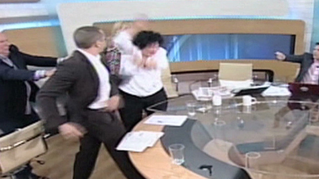 Politician assaults female rivals on TV