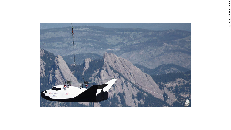 The Aircrane lifted Dream Chaser to an altitude of about 10,000 feet.  Engineers will take data from the test flight to prepare for the spacecraft's first untethered test flight, which is expected this August or September at California's Edwards Air Force Base.
