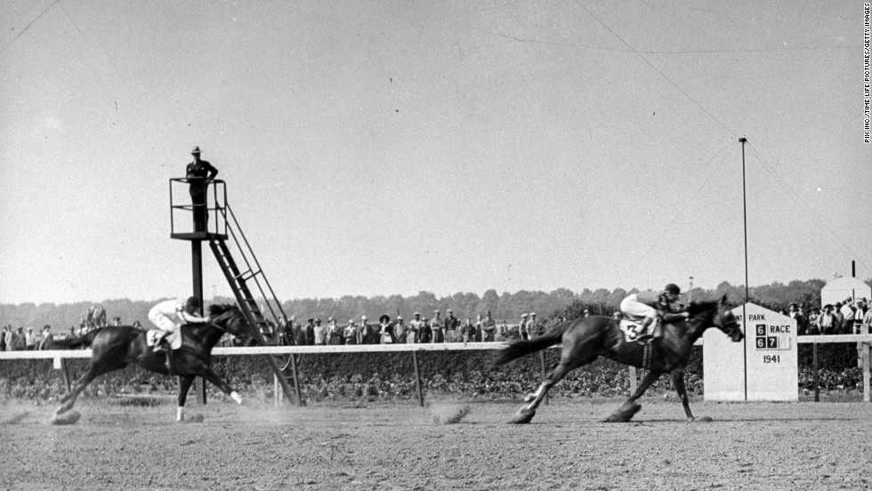 Whirlaway, right, won the Triple Crown in 1941.