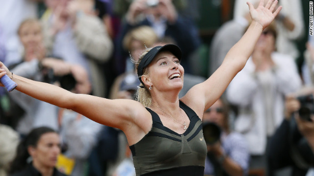 Sharapova wins French Open, career slam