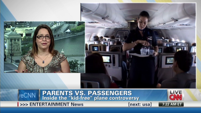Should parts of airplanes be kid-free?