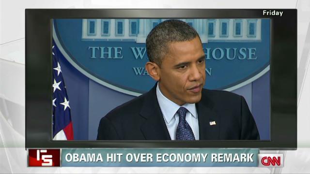 Obama hit over economy remark