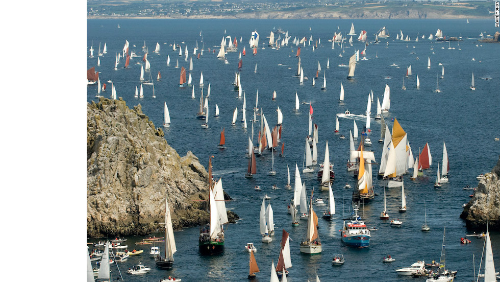 This summer will be the 20th anniversary of the festival, which always features tall ship races and regattas along the Brittany coast line.