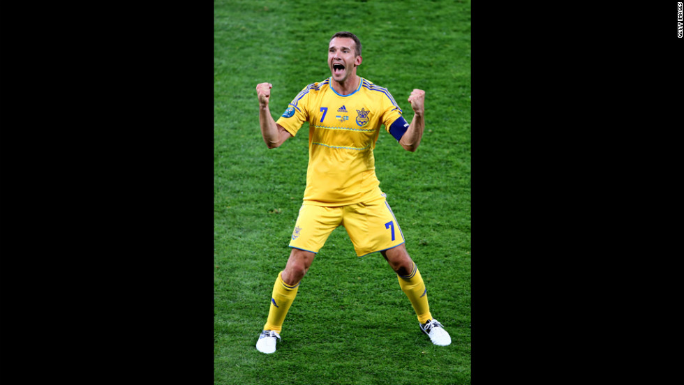 Ukraine was the co-host of Euro 2012, the largest international sporting event to take place in the country.  Pictured: Andriy Shevchenko of Ukraine reacts to scoring the team's second goal during the Group D match against Sweden in Kiev, Ukraine, on Monday, June 11.