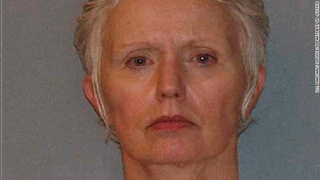 "Image #: 14932819    Catherine Greig, long time girlfriend of former mob boss and fugitive James ""Whitey"" Bulger, who was arrested in Santa Monica, California on June 22, 2011, is seen in a booking mug photo released to Reuters on August 1, 2011.   Bulger fled Boston in late 1994 after receiving a tip from a corrupt FBI agent that federal charges were pending. Greig joined him a short time later and has been charged with harboring Bulger as a fugitive.   REUTERS/U.S. Marshals Service/U.S. Department of Justice/Handout   (UNITED STATES - Tags: CRIME LAW HEADSHOT)       REUTERS/U.S. Marshals Service/U.S. Department of Justice /LANDOV"