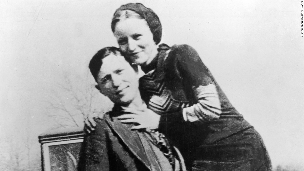 Clyde Barrow and Bonnie Parker robbed banks across America before meeting their end when police and federal agents ambushed them on a dirt road in Louisiana in 1934.