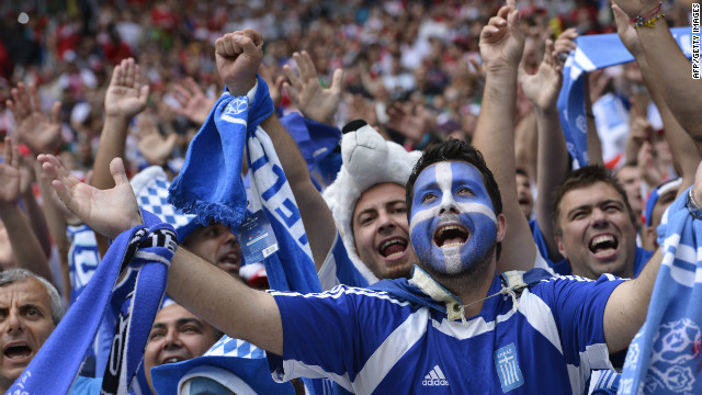 Fans of ailing Eurozone countries such as Greece will be hoping for a little relief on the football pitch.