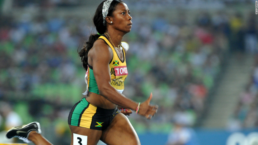 Jamaica's Olympic 100m women's champion Shelly-Ann Fraser-Pryce also won the world title the following year in Berlin.