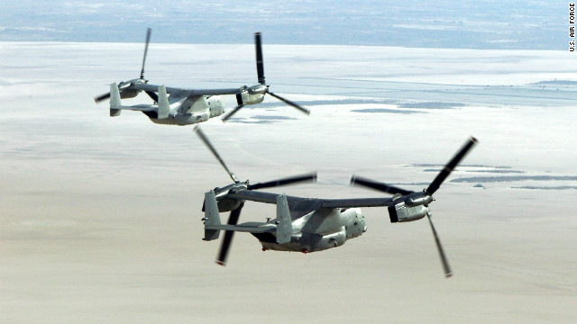 The Osprey is a tilt-rotor aircraft that can fly like an airplane and land like a helicopter.