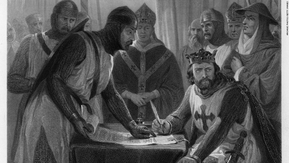 The Magna Carta was essentially a peace treaty between England's King John and a group of barons he had been in dispute with. It established the principle that no one -- including the King -- should be above the law.