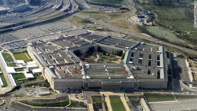 This picture taken 26 December 2011 shows the Pentagon building in Washington, DC.  The Pentagon, which is the headquarters of the United States Department of Defense (DOD), is the world's largest office building by floor area, with about 6,500,000 sq ft (600,000 m2), of which 3,700,000 sq ft (340,000 m2) are used as offices.  Approximately 23,000 military and civilian employees and about 3,000 non-defense support personnel work in the Pentagon. AFP PHOTO (Photo credit should read STAFF/AFP/Getty Images)