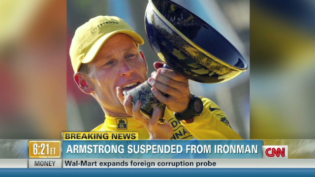 Armstrong suspended from Ironman