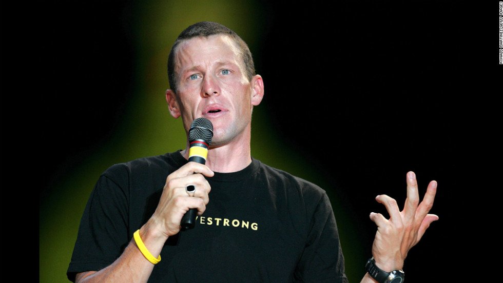 After his sixth consecutive Tour de France win, Armstrong attends a celebration in his honor in front of the Texas State Capitol in Austin.