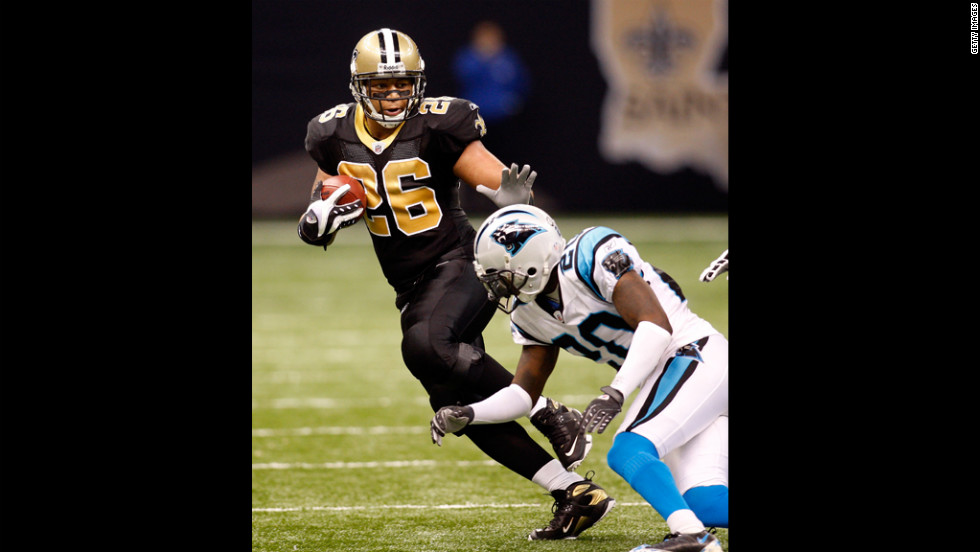 Retired New Orleans Saints running back Deuce McAllister tested positive for a banned diuretic in 2008.