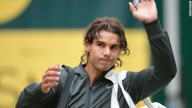 Rafael Nadal has never progressed beyond the quarter-finals at Germany's Halle Open.
