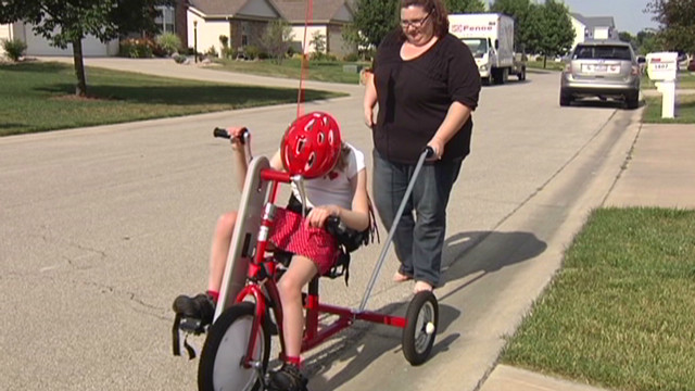 Girl with rare disorder gets bike