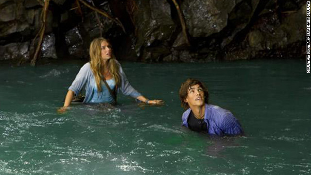 "Brenton Thwaites co-stars with Indiana Evans in ""Blue Lagoon: The Awakening."""