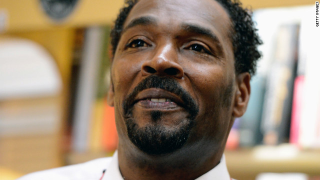 LOS ANGELES, CA - APRIL 30: Rodney King speaks during a book signing event for his new book, 'The Riot Within: My Journey From Rebellion to Redemption,' at EsoWon bookstore on April 30, 2012 in Los Angeles, California. King is best known as the victim of a brutal police beating that took place in Los Angeles. It's been 20 years since the Rodney King verdict that sparked infamous L.A. Riots. (Photo by Kevork Djansezian/Getty Images)