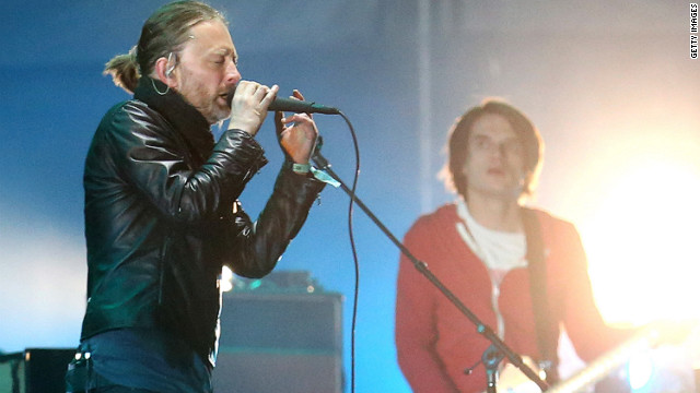 Thom Yorke of Radiohead performs at the 2012 Coachella Valley Music & Arts Festival in Indio, California.