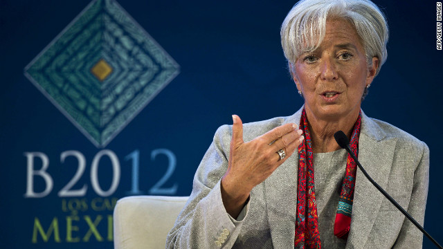 Managing Director fo the IMF Christine Lagarde speaks at the World Economy panel discussion in the framework of the G20 Leaders Summit which starts on Monday in Cabo San Lucas.