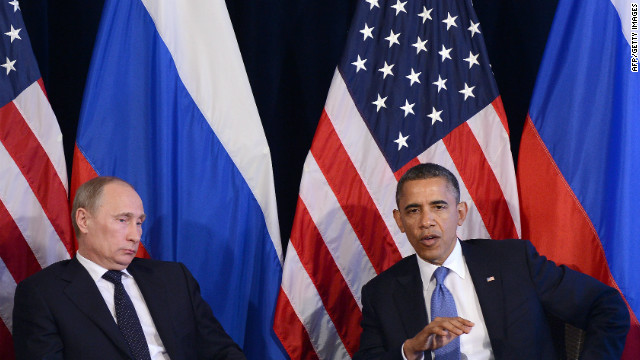President Obama met with Russian President Vladimir Putin during the G-20 summit in Mexico Monday.