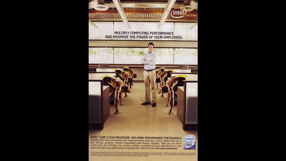 "In 2007, computer chip maker Intel was forced to retract an ad that many considered racist. ""Intel's intent ... was to convey the performance capabilities of our processors through the visual metaphor of a sprinter,"" <a href=""http://blogs.intel.com/technology/2007/07/sprinter_ad/"" target=""_blank"">an Intel official wrote online.</a> ""We have used the visual of sprinters in the past successfully. Unfortunately, our execution did not deliver our intended message and in fact proved to be insensitive and insulting. ... We are sorry and are working hard to make sure this doesn't happen again."""