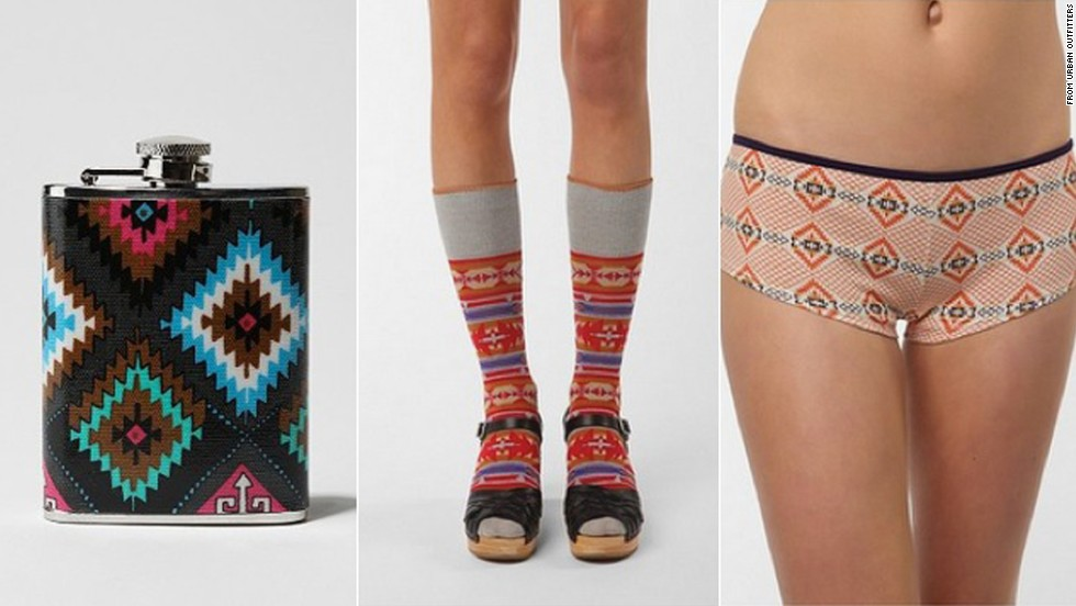 "The Navajo Nation <a href=""http://inamerica.blogs.cnn.com/2012/03/02/navajo-nation-sues-urban-outfitters-for-alleged-trademark-infringement/"">sued Urban Outfitters</a> for its use of the word Navajo on a line of products in February 2012."