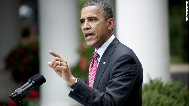 President Obama responds to a shouted question by a reporter with The Daily Caller at the White House last week.