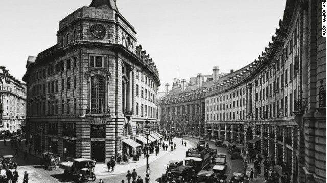 The Crown's assets include large swathes of London's Regent Street, seen here in 1927.