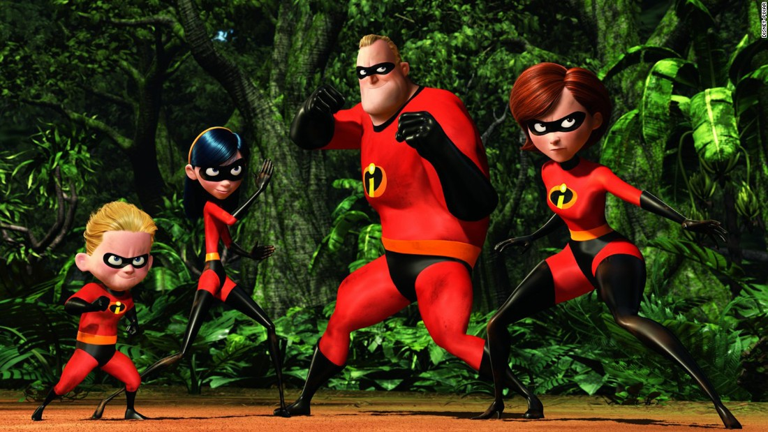"Helen ""Elastigirl"" Parr and her daughter, Violet, fight alongside the rest of the Incredible family to defeat Syndrome in 2004's ""The Incredibles."""