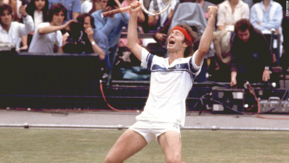 Feisty New Yorker John McEnroe was not blessed with great serving power but his speed, aggression and razor-sharp reflexes enabled him to finish off many a rally with a perfectly executed volley.