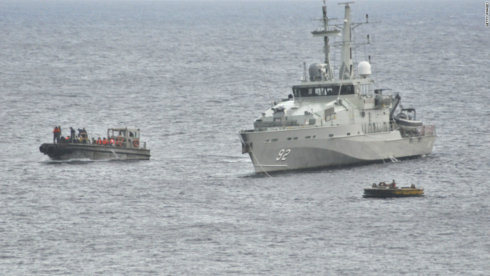The boat was carrying about 200 people and Australian authorities believe all the passengers were male.