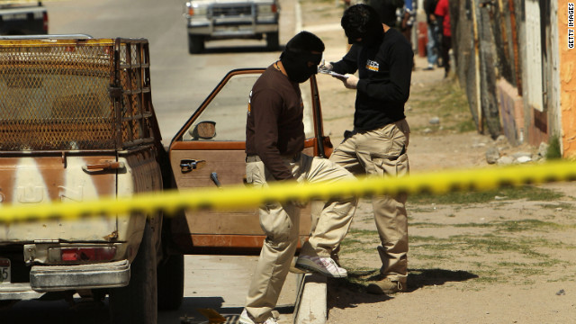 Police investigate the killing of two women in Juarez, Mexico, which has been wracked by violent drug-related crime.