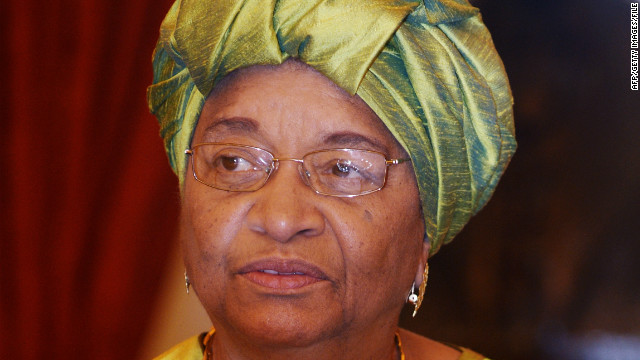 Ellen Johnson Sirleaf is the president of Liberia