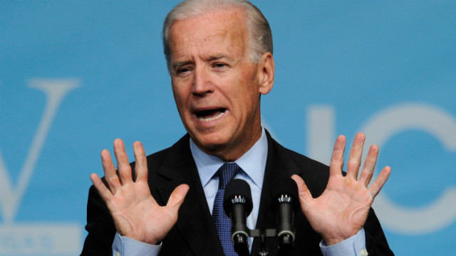"Vice President Biden almost lets the ""A-word"" slip"