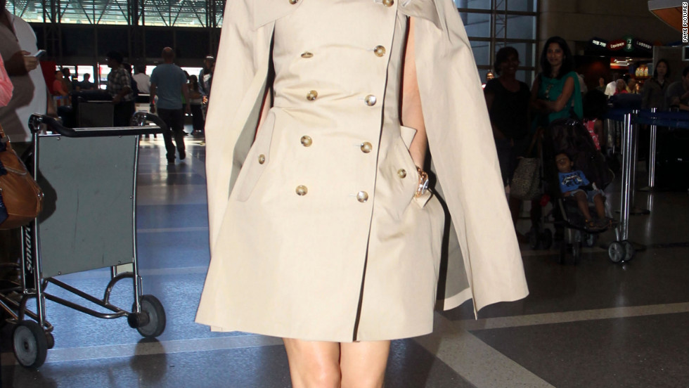 Victoria Beckham catches a flight from Los Angeles.