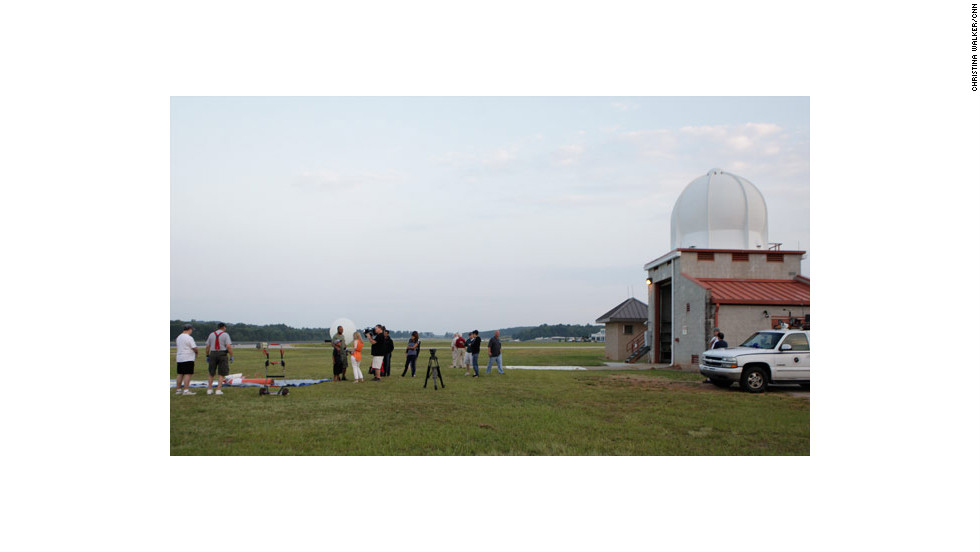 CNN producer Chris Erickson and his team partnered with technology enthusiast Desha Rogers to launch a video-equipped weather balloon in hopes of capturing video from the edge of space. The National Weather Service station at Peachtree City, Georgia, allowed CNN permission to assemble the balloon and launch from the site.