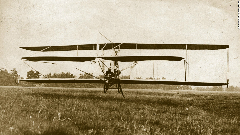 Farnborough in Hampshire, England has a long association with air travel. This image circa 1909 shows aviation pioneer Samuel Cody's British Army Aeroplane No 1 flying at Farnborough. Cody later died in an air accident. (Photo by Hulton Archive/Getty Images)